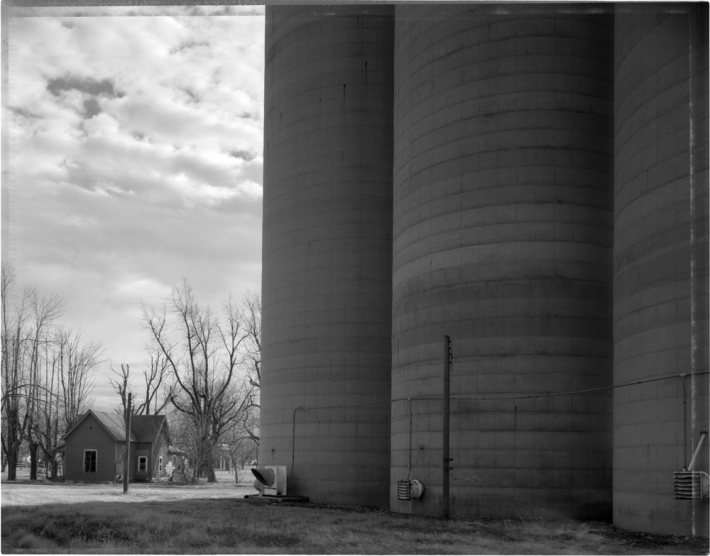 Grain Elevator (out of business) and Abandoned House, Kirklin, 1993