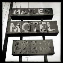 Abandoned Maples Hotel Sign, Muncie, Indiana