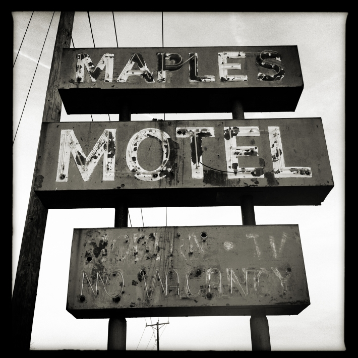 Abandoned Maples Hotel Sign, Muncie, Indiana